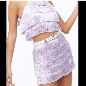 Lavender Fringe Set